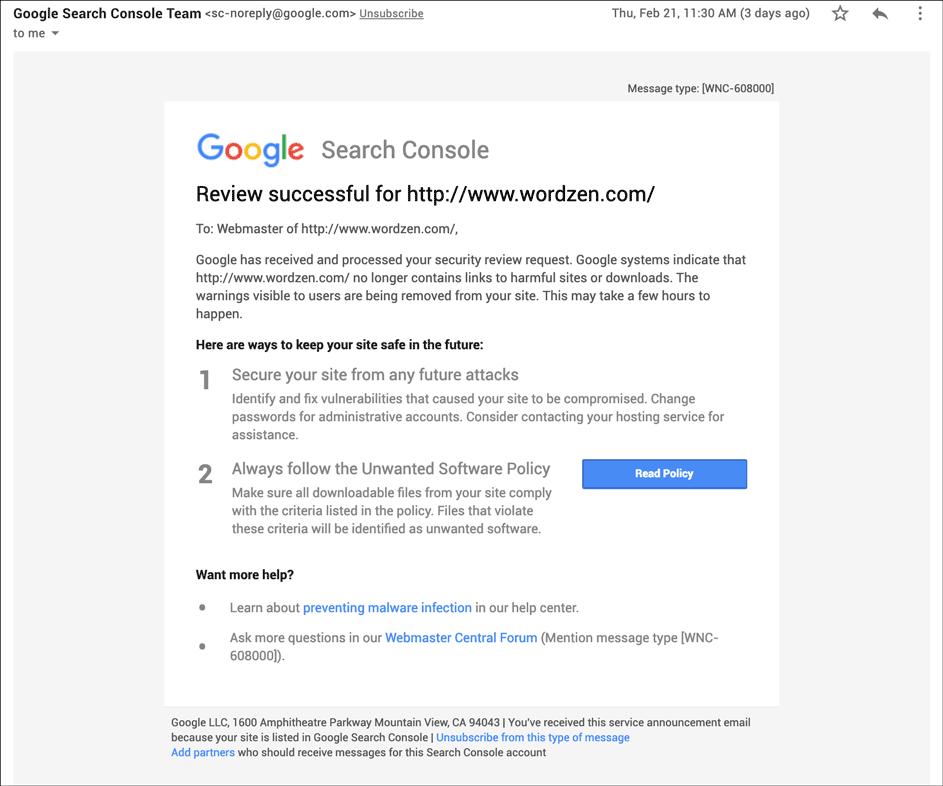 Google's Safe Browsing program made my week hell