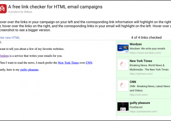 How to quickly check links in HTML email campaigns
