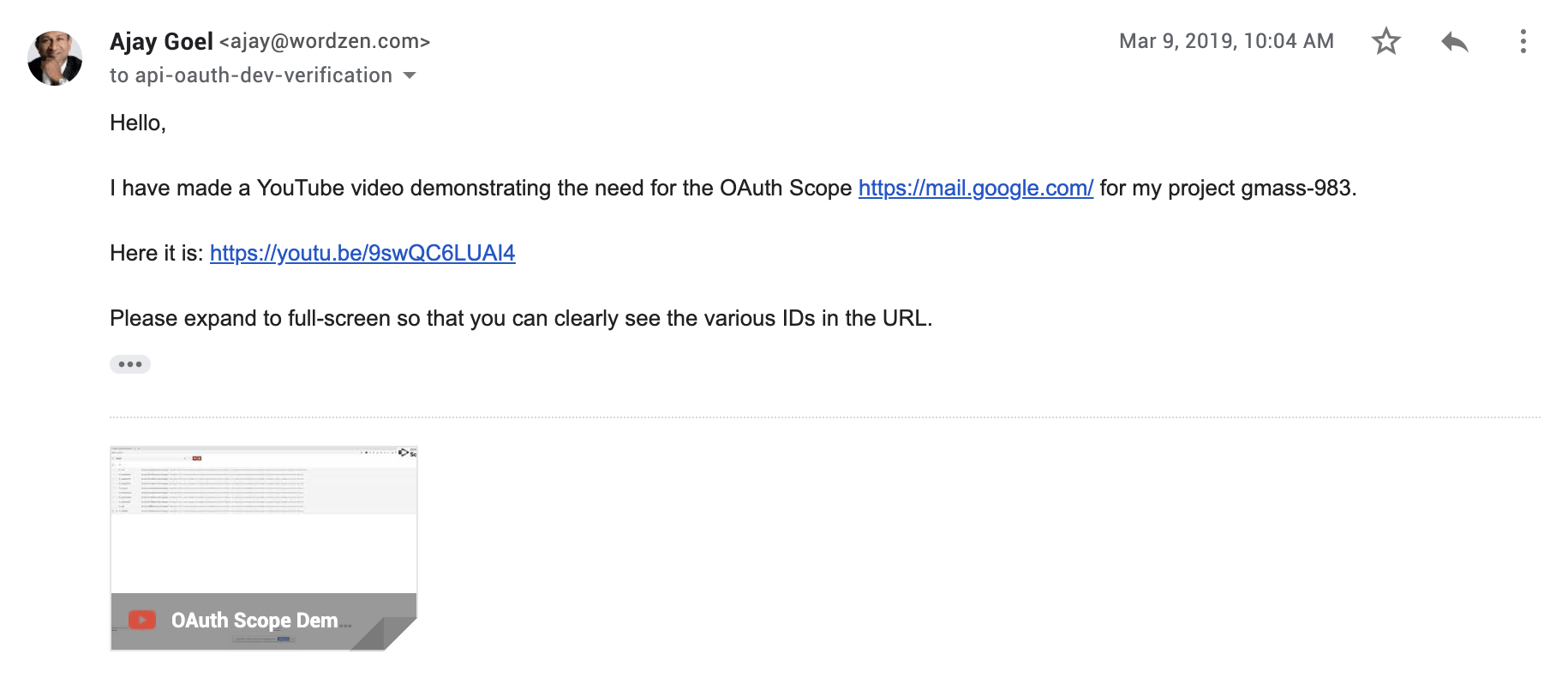 Live Updates on the Google OAuth verification process and