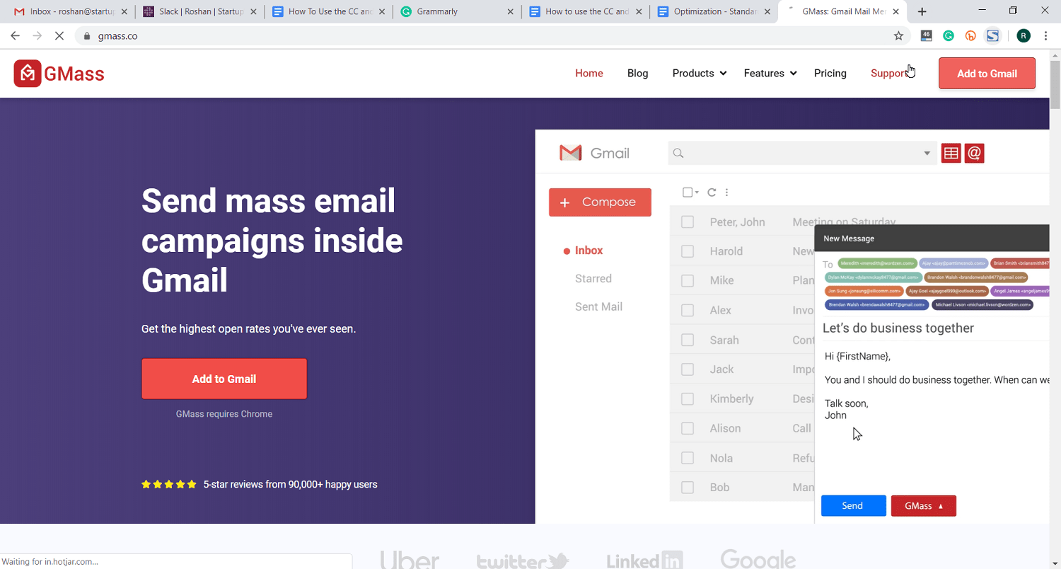 send mass email with gmass