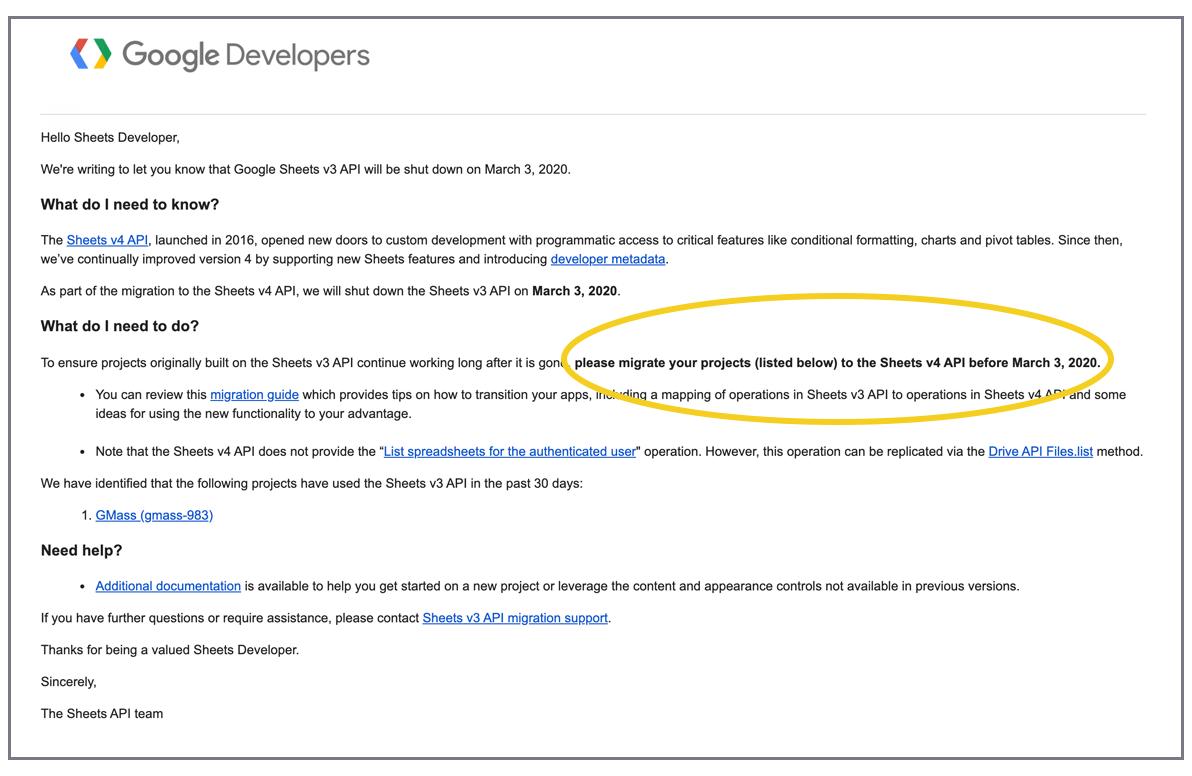 Google Sheets API Announcement
