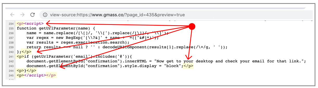 Adding JavaScript manually