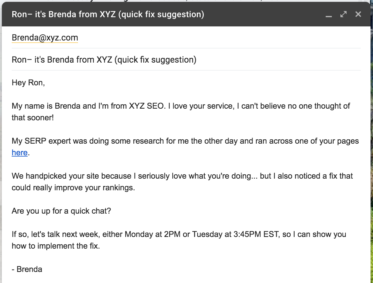 suggest cold email template 1