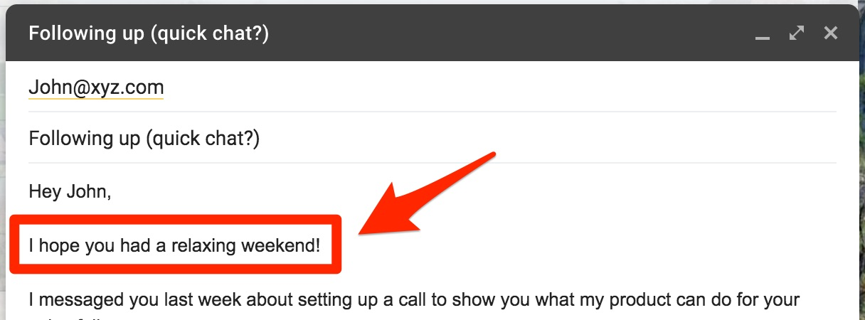 Follow-up cold email template 2